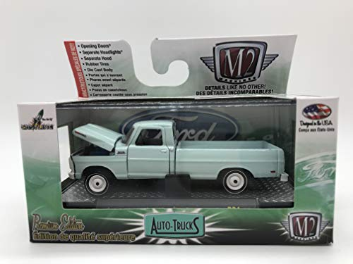 M2 Machines Auto-Trucks 1969 Ford F-250 Truck Contractors Special 1:64 Scale R34 15-40 Baby Blue Details Like NO Other! Over 42 Parts