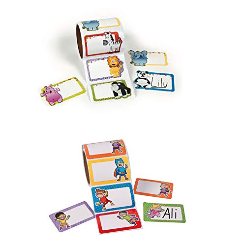 (Fun Express Name Tags and Labels Bundle | Great for Kids Birthday Party, Classroom Party, School Field Trip, Outdoor Activity, School)