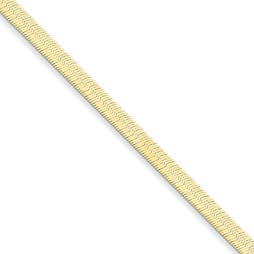 14kt Yellow Gold 4.0mm Silky Herringbone Chain Bracelet; 8 inch ()