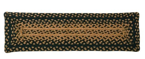 IHF Home Decor Ebony Jute Braided Stair Tread Rectangle Rug 8 x 28 Inch from IHF Home Decor