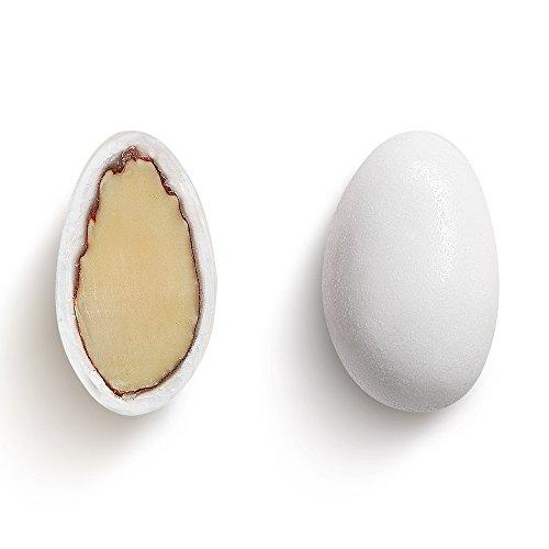 Hochzeitsmandeln Taufmandeln weiß, 1 kg - hochwertige frische Mandelqualität ummantelt von feinen Zuckerglasur für Gastgeschenke