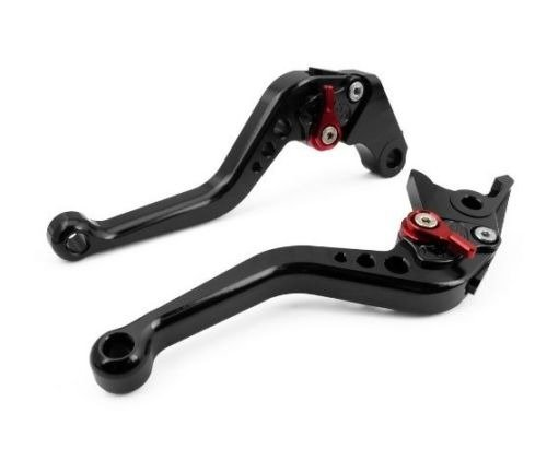 1 Pair Motorcycle Motor OEM Style CNC Aluminum Shorty Short Clutch & Brake Levers Black Fit for HONDA CBR600RR 2007-2012 (F-33/Y-688H) (Clutch Lever Black Short)