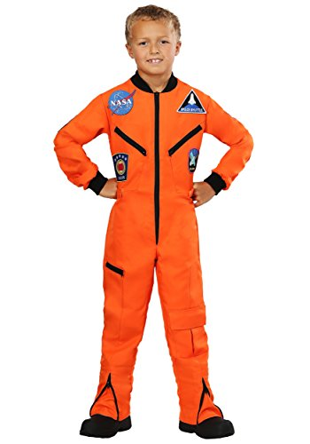 Child Orange Astronaut Jumpsuit Costume -