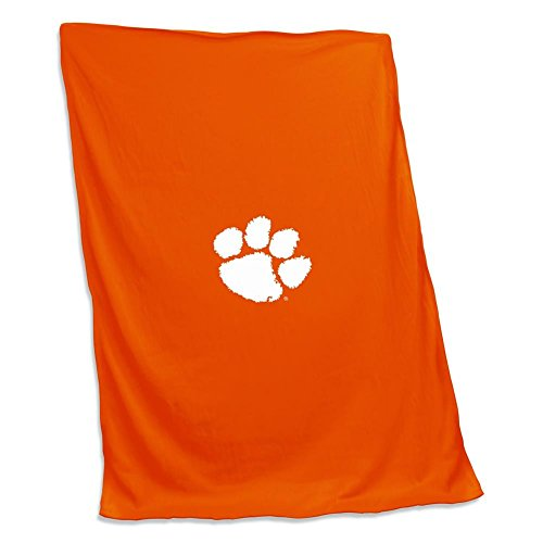 Logo Brands NCAA Clemson Sweatshirt Blanket (Screened), Multi, One Size