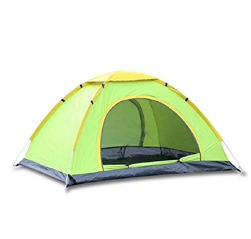 GCC Guo Outdoor-Produkte im Freien 3-4 Personen Oxford Tuch Regen, Lackiert Silber Polyester Sonnencreme, 2 Türen Belüftung, Ultraleichte Material Leicht zu Tragen, Home Camping Zelte