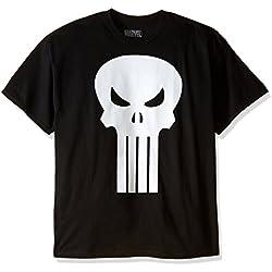 Marvel The Punisher Men's Plain Jane T-Shirt, Black, XX-Large
