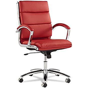 Amazon Com Ribbed Mid Back Office Chair In Brown Genuine