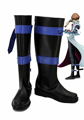 Yu-Gi-Oh! Seto Kaiba Cosplay Shoes Boots Custom Made kD28PA