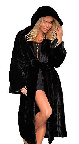 Lunga Finta Vintage Cappotto Ragazze Incappucciato Donna Pelliccia Estilo Especial Nero 88 Outwear BoBo Cappotti Invernali Elegante Caldo Cappotto Giaccone tfvBaq1w