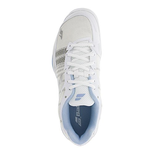 where to buy low price Babolat Women's Jet Mach I All Court Tennis Shoes White/Sky Blue low cost cheap online buy cheap reliable IB899ekAf
