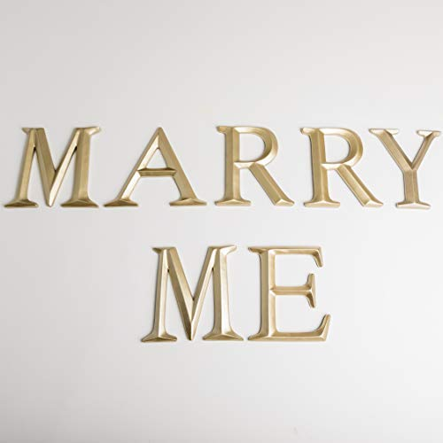 Marry Me Sign - Proposal Sign - Will You Marry Me Sign - Engagement Sign - 12 inches Tall - Valentines Day - Gold Sign - Proposal Ideas- How to Proposal - Marriage Proposal Ideas