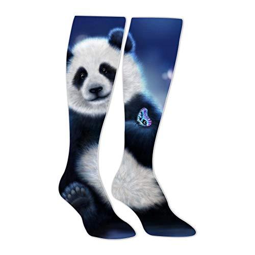 Knee High Stockings Bear Panda Hand Animated Long Socks Sports Athletic for Man and ()