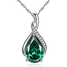 Devuggo MABELLA Jewelry Sterling Silver Simulated Birth Month Stones Pendant Necklace Gifts for Women