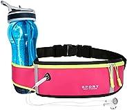 Running Belt, Fanny Pack for Women Men, Water Resistant Waist Pack, Runners Belt for Hiking Fitness Travel - A