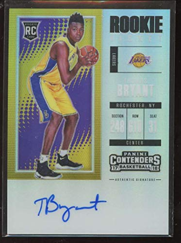Thomas Bryant 2017-18 Panini Contenders Season Ticket Premium Edition #140 Rookie Basketball Lakers NBA