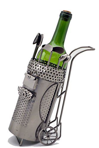 WINE BODIES ZB1390 Golf Bag Metal Bottle Holder, Charcoal