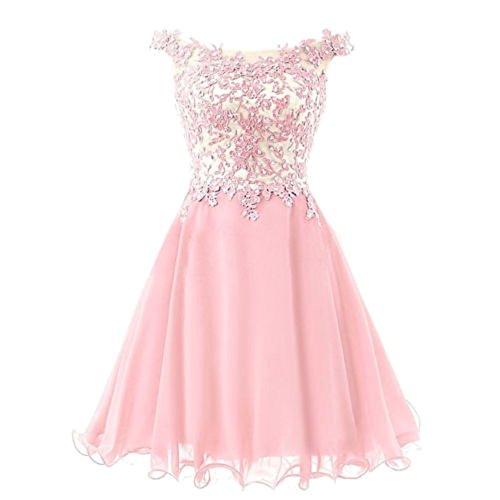 Corto nbsp;vestido Noche Hombro nbsp;– Sweet Fiesta Novia Drasawee De Off Rosa n0SHwgSqx