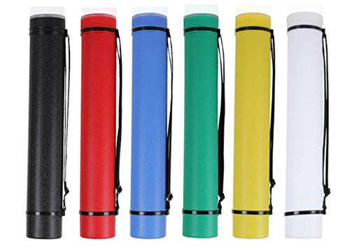LuPro Colored Poster Plastic Tube - Expandable Art Carrying Tube with Strap (All Six Colors)