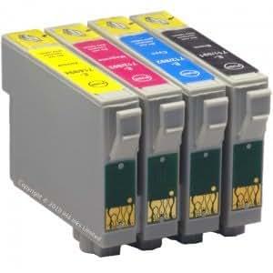 4 x Cartucho Tinta compatible para EPSON T0711 Negro T0712 Cyan T0713 Magenta T0714 Yellow Para Epson Stylus Office B40w / B40W / B1100 Epson Stylus Office BX300 / BX300F / BX310 / BX310FN / BX600 / BX600FW / BX610 / BX610FW Epson-Stylus D78 / D92 / D120 Epson Stylus DX4000 / DX4050 / DX4400 / DX4450 / DX5000 / DX5050 / DX6000 / DX6050 / DX7000f / DX7400 / DX7450 / DX8400 / DX8450 / DX9400f Epson Stylus S20 / S21 Epson Stylus SX100 / SX105 / SX110 / SX200 / SX205 / SX210 / SX400 / SX400 Wifi / SX405 / SX410 / SX510 / SX510w / SX600 / SX600FW / SX610 / SX610FW