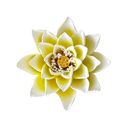 (CYA-DECOR Floating Resin Lotus Artificial Flowers,Water Lily Flowers fit for Lawn Ornaments and Pond Garden Decor.)