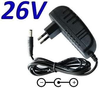 Cargador ESP ® Cargador Corriente 26V Reemplazo Aspirador ...