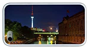 Hipster best iPhone 4S covers Berlin at Night TPU White for Apple iPhone 4/4S