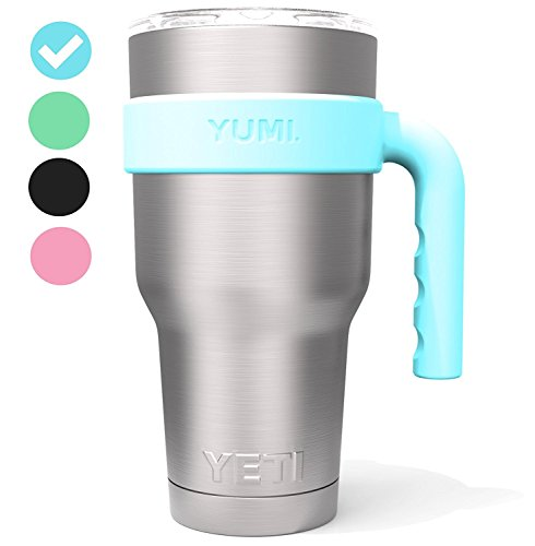 YETI Handle for 30oz Stainless Steel Travel Tumbler – Fits YETI Rambler, The BOSS, SIC CUP, RTIC, GUS, Magnum Steel, Grid Gear, Polar Drifter, KING, SMART and Titan. (Tumbler not included) (Blue)
