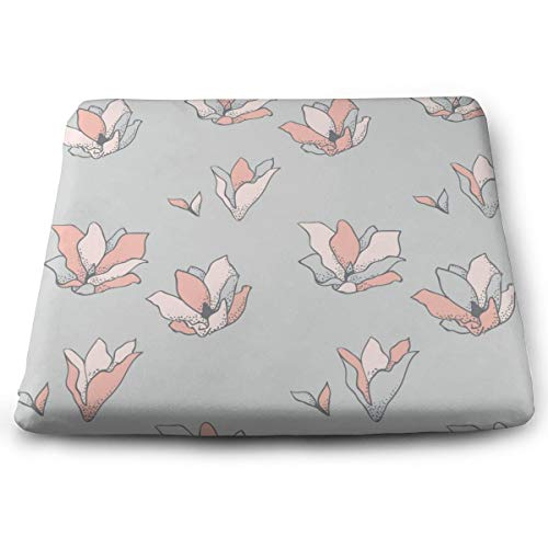 Pamdart Drawn Flowers Cherry Blossoms Customized Square Seat Cushion Memory Cotton Zipper Detachable for Dining Table Patio Chair