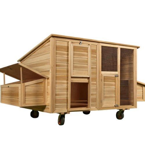 Hühnerstall mobil 220x125x118 cm - Hühnerhaus Hühner Haus Stall