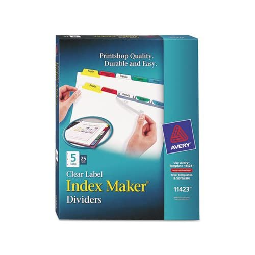 Discount AVE11423 - Avery Index Maker Divider w/Multicolor Tabs free shipping