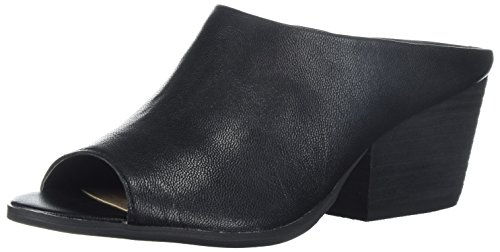 e Heeled Sandal, Black, 8 B US (Heel Leather Mule)