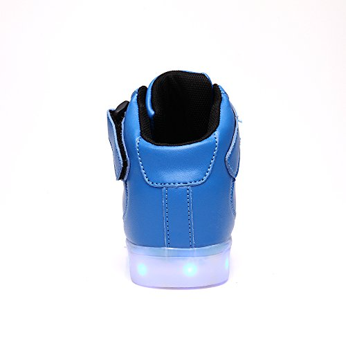 Pictures of VILOCY Kids Boys Girls High Top USB Blue 11 M US Little Kid 7