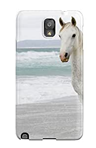 Awesome Design White Horse On Beach Hard Case Cover For Galaxy Note 3