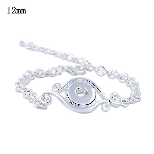 Lovmoment Mini Bracelet 12MM Single Button Snap Jewelry Bracelet Bangle Chunk