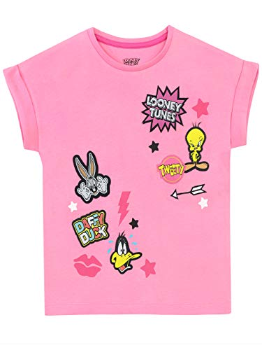 Looney Tunes Girls' Tweety Pie Daffy Duck Bugs Bunny T-Shirt Size 7 Pink