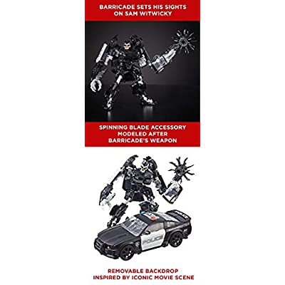 Transformers Studio Series 28 Deluxe Class Movie 1 Barricade Action Figure: Toys & Games