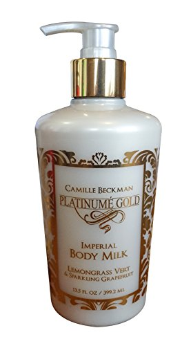 Camille Beckman Platinume Gold Imperial Body Milk, Lemongrass Vert & Sparkling Grapefruit, 13.5 oz