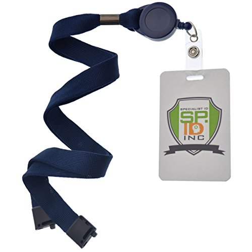 Navy Blue Badge Reel and Breakaway Lanyard Combo, Packaged and Sold Individually by Specialist ID Photo #2
