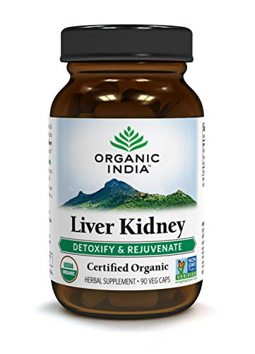 ORGANIC INDIA Liver Kidney, Herbal Supplement for Liver Support and Natural Kidney Support (90 capsules)
