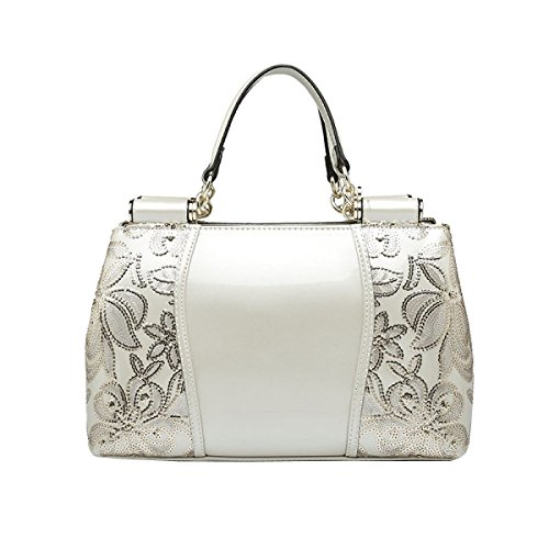 Evening Bag Autumn And Winter Leather Painting Late Evening Bags Leather Handbags White Notebook