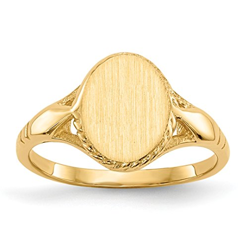 ICE CARATS 14kt Yellow Gold Signet Band Ring Size 3.00 Fine Jewelry Ideal Gifts For Women Gift Set From Heart 14k Yellow Gold Signet Ring