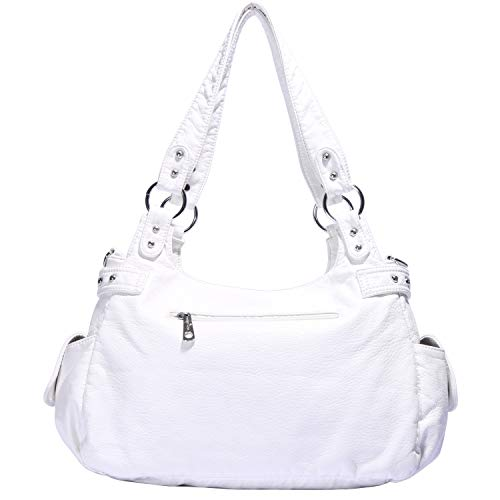 Angelkiss Design Handbags Womens Purse Feel Soft Lether Multiple Top Zipper Pockets Shoulder Bags Large … by Angel Kiss (Image #4)
