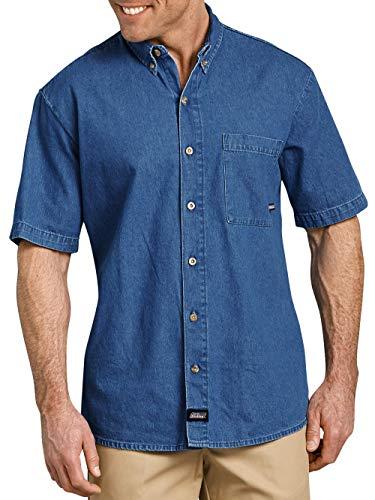 Shirt Denim Button Down Dickies (Dickies Genuine Men's Short Sleeve Button Down Denim Shirt)