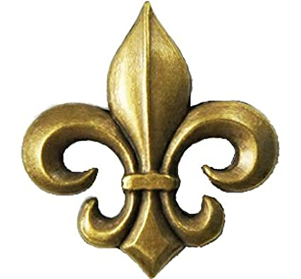 de817a37a13 Amazon.com  Heraldic fleur de lis lily bronze Metal pin badge  Arts ...
