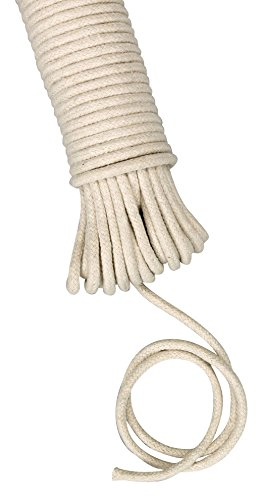 Household Essentials 04800 All-Purpose Cotton Clothesline Rope – 100 Ft Length - 3/16-Inch Dia.