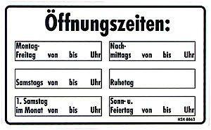 Cartel de Advertencia - horarios - Talla aprox. 25 x 15 cm ...