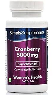 Arándanos Rojos 5000mg - 360 Comprimidos - Hasta 1 año de suministro - Ayuda a proteger