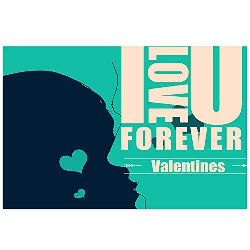 YOKOU Valentines Day Aquarium Background Sticker Wallpaper 18.4