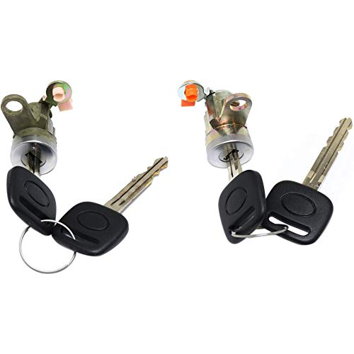 (Door Lock Cylinder Set Compatible with 2004 Toyota Tacoma Left and Right Side)