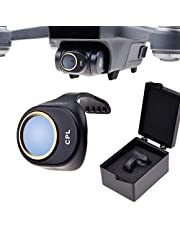 CamKix PL Filter compatible with DJI Spark - Includes a CamKix Polarizing Filter (PL), a Filter Storage Box and a CamKix Cleaning Cloth - Prevents Reflections in Water / Glass - Offers Deeper Color and Tones (PL Filter For DJI Spark)